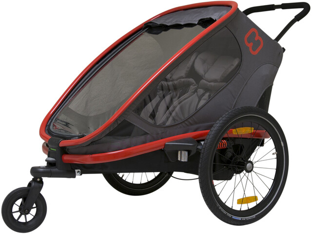 Hamax Outback Cykelanhænger, red/charcoal